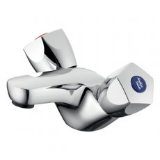 Armitage Shanks Sandringham 21 Dual Control Basin Mixer without Pop Up Waste - Chrome