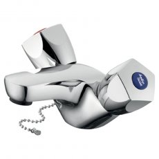 Armitage Shanks Sandringham 21 Dual Control Basin Mixer with Weighted Chain - Chrome