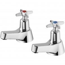 Armitage Shanks Sandringham 21 Bath Pillar Taps Pair with Crossheads - Chrome