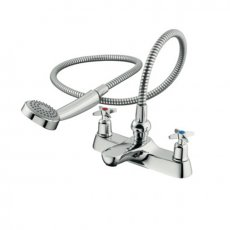 Armitage Shanks Sandringham 21 Two Hole Bath Shower Mixer Tap with Crossheads - Chrome