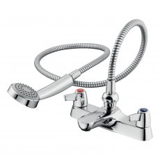 Armitage Shanks Sandringham 21 Two Hole Bath Shower Mixer Tap with Levers - Chrome