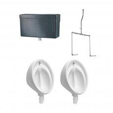 Armitage Shanks Sanura Hygeniq 2 Urinal Pack with Concealed Auto Cistern