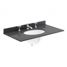 Bayswater Black Marble Top Furniture Basin 800mm Wide 3 Tap Hole