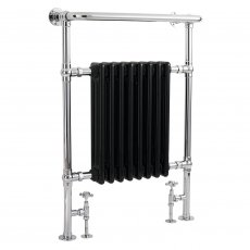 Bayswater Clifford Radiator Towel Rail 965mm High x 673mm Wide Black/Chrome