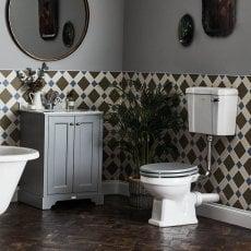 Bayswater Fitzroy Bathroom Suite with Floor Standing Vanity Unit 600mm - 1TH