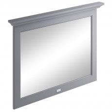 Bayswater Flat Bathroom Mirror 1000mm Wide - Plummett Grey