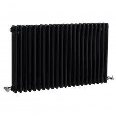 Bayswater Nelson 2-Column Horizontal Radiator 600mm High x 1011mm Wide Gloss Black
