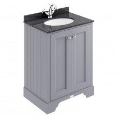 Bayswater Plummett Grey 2-Door Vanity Unit 600mm Wide (Excluding Basin)