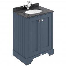 Bayswater Stiffkey Blue 2-Door Vanity Unit 600mm Wide (Excluding Basin)