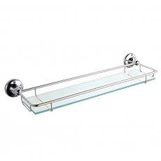 Bayswater Traditional Glass Gallery Shelf Chrome
