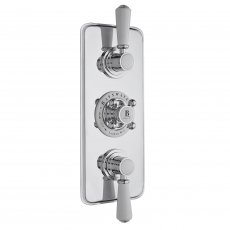Bayswater Traditional Triple Concealed Shower Valve White/Chrome