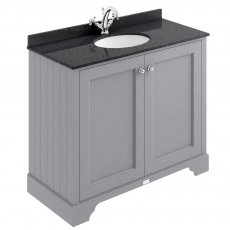 Bayswater Plummett Grey 2-Door Vanity Unit 1000mm Wide (Excluding Basin)