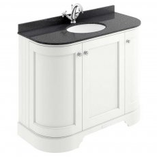 Bayswater Pointing White 3-Door Curved Vanity Unit 1000mm Wide (Excluding Basin)