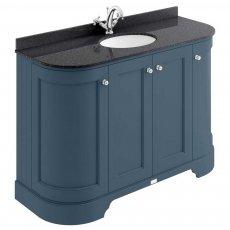 Bayswater Stiffkey Blue 4-Door Curved Vanity Unit 1200mm Wide (Excluding Basin)