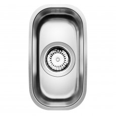 Blanco Supra 160-U 1.0 Bowl Undermount Kitchen Sink with Waste 184mm L x 322mm W - Stainless Steel Brushed