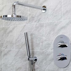 Bristan Artisan Dual Concealed Mixer Shower with Shower Handset + Fixed Head