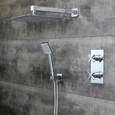 Bristan Casino Dual Concealed Mixer Shower with Shower Kit + Fixed Head