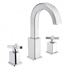 Bristan Casino 3-Hole Basin Mixer Tap Deck Mounted with Clicker Waste - Chrome