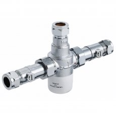 Bristan Commercial MT503 Thermostatic Mixing Valve with Isolation, 15mm, Chrome