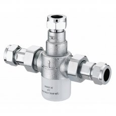 Bristan Commercial MT503 Thermostatic Mixing Valve, 15mm, Chrome