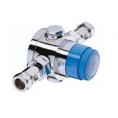 Bristan Commercial TS6000ECP Thermostatic Mixing Valve, 28mm, Chrome
