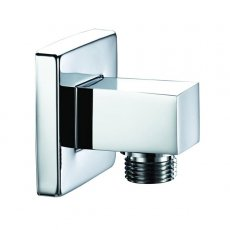 Bristan Square Shower Hose Outlet, Wall Mounted, Chrome