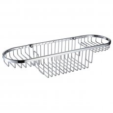 Bristan Large Wall Fixed Wire Basket, Chrome