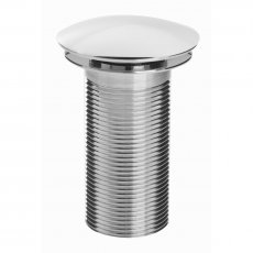 Bristan Round Clicker Basin Waste Chrome - Unslotted (For Basins with No Overflow)