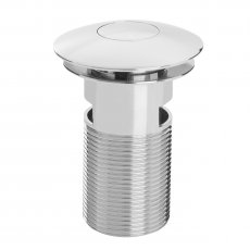 Bristan Round Push Basin Waste Chrome - Slotted
