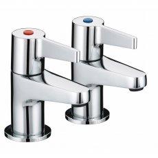 Bristan Design Utility Lever Bath Taps Chrome Plated
