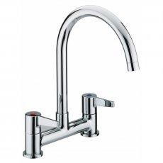 Bristan Design Utility Lever Kitchen Sink Mixer Tap, Deck Mounted, Chrome