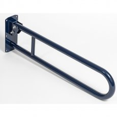 Bristan 800mm Aluminium Hinged Grab Rail, DocM Blue