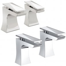 Bristan Ebony Basin Taps and Bath Taps, Chrome