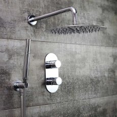 Bristan Exodus Dual Concealed Mixer Shower with Shower Kit + Fixed Head