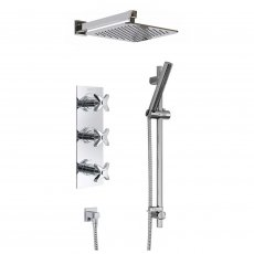 Bristan Glorious Triple Concealed Mixer Shower with Shower Kit + Fixed Head