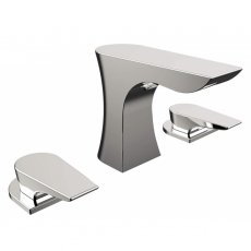 Bristan Hourglass 3-Hole Basin Mixer Tap, Deck Mounted, Chrome