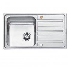 Bristan Index Easyfit 1.0 Bowl Universal Kitchen Sink 860mm L x 500mm W - Stainless Steel
