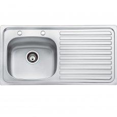Bristan Inox 1.0 Bowl Kitchen Sink RH Drainer 2 Tap Hole 930mm L x 480mm W - Stainless Steel