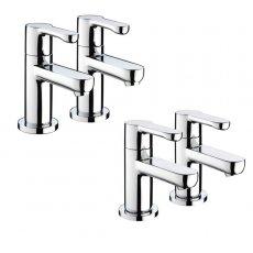 Bristan Nero Basin Taps and Bath Taps, Chrome
