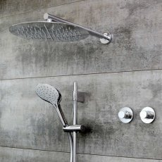 Bristan Orb Thermostatic Dual Concealed Mixer Shower with Kit + Fixed Head