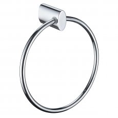 Bristan Oval Brass Towel Ring, Chrome Plated