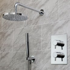 Bristan Prism Dual Concealed Mixer Shower with Shower Kit + Fixed Head - Chrome