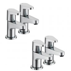 Bristan Quest Basin Taps and Bath Taps, Chrome