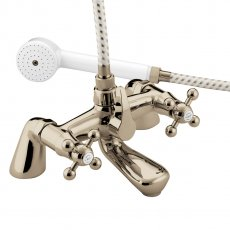 Bristan Regency Pillar Bath Shower Mixer Tap - Gold Plated