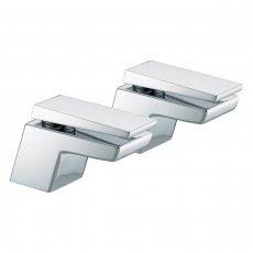 Bristan Sail Bath Taps, Pair, Chrome
