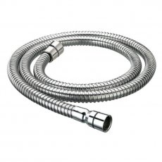 Bristan Cone to Cone Stainless Steel Shower Hose, 2.0m, 8mm Bore, Chrome