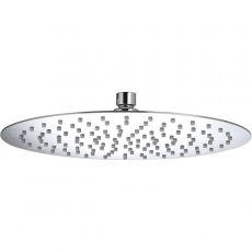 Bristan Slimline Round Fixed Shower Head, 300mm Diameter, Chrome