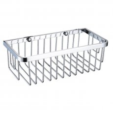 Bristan Small Wall Fixed Wire Basket, Chrome