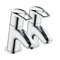 Bristan Smile Bath Taps, Pair, Chrome