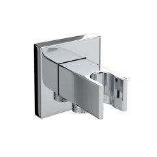 Bristan Square Wall Outlet with Handset Holder - Chrome